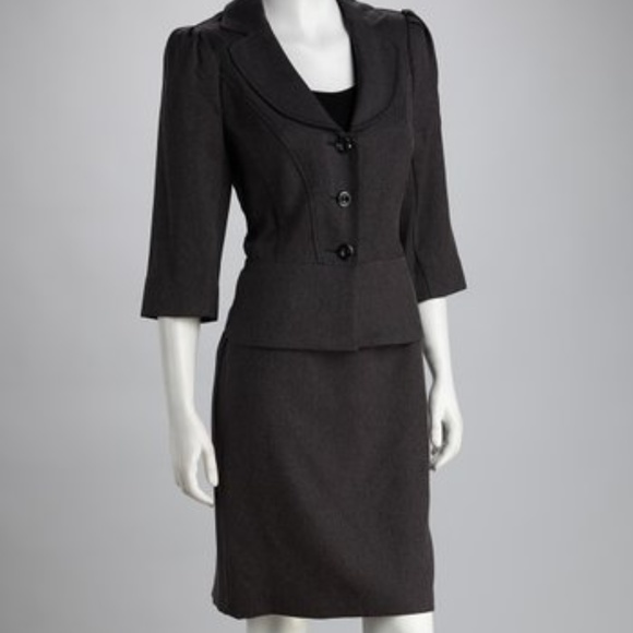 1b542b7b6a6135 T. Milano Jackets & Coats | Womens Jacket Skirt Suit Grey Size 12 ...